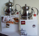 LeTeapot in Glass with infuser basket for loose tea or tea bags (2 sizes)
