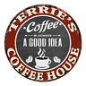 CPCH-0733 TERRIE'S COFFEE HOUSE Chic Tin Sign Decor Gift Ideas