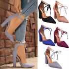 high sole shoes - US Women Lace Up Block Heel Ladies Chunky Sole Block High Heel Sandals Shoes New