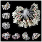 ribbon tulle - 2 Yards Fabric Floral Tulle Lace Trim Embroidered Lace Ribbon Sewing DIY Craft