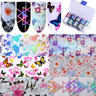 Holographic Flower Nail Foil Decal Dreamcatche Nail Art Transfer Sticker Decor $0.74 USD on eBay
