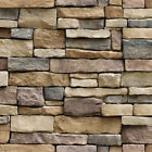 3D Brick Stone Wallpaper Rustic Effect Self-adhesive Wall Sticker Home Decor NH