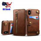 For Apple iPhone X 10 Flip Wallet Leather Removable Card Holder Stand Case Cover