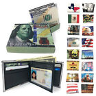 Printed Designs Bifold Wallets in Gift Box Cash Card ID Slots Mens Womens Youth image