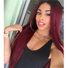 how to do ombre on red hair - US Fashion Ombre Wine Red Hair Wig Long Strainght Full Wigs For Women