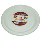 "High Quality New 12 Pack 9"" Plastic Plates Great for Catering, Parties & BBQ"