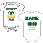PERSONALIZED GREEN BAY PACKERS FAN BABY GERBER ONESIE OPTIONAL SOCKS GIFT $18.99 USD on eBay