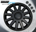 """17"""" Inch Matte Black Hubcap Wheel Cover Rim Covers 4pc, Style Code 610 17 Inches"""