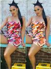 Women Clubwear Summer Camo Playsuit Bodycon Party Jumpsuit Romper Short Trousers