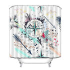 "71"" Colorful Arrow Compass Fashion Pattern Bathroom Polyester Waterproof Fabric"