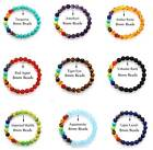7 Chakra Healing Beaded Bracelet Lava Stone 8MM Beaded Diffuser Bracelet Jewelry