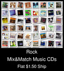 Rock(6) - Mix&Match Music CDs U Pick *NO CASE DISC ONLY*