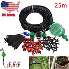 Micro Drip Irrigation System Kit 25m Garden Hose Watering Timer Drippers Fitting