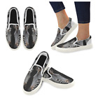 InterestPrint Custom Two Cute Zebras Slip On loafers Women's Canvas Flat Shoes