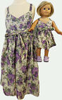 Matching Girl and Dolls Clothes Purple Flower Sundress Size 6