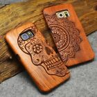 Natural Wooden Wood Phone Case Cover For Apple iPhone 6 6s 7 Plus Samsung S9 New