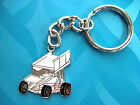 WINGED  SPRINT  CAR - keychain , key chain GIFT BOXED