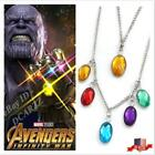US! Avengers Infinity War Thanos Power Stones Necklace Cosplay Gifts PropJewelry image