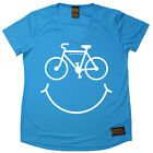 Ladies Cycling Bike Smiling Breathable top átee T SHIRT DRY FIT V NECK T-SHIRT