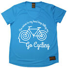 Ladies Cycling The Voices Go Cycling átee T SHIRT DRY FIT V NECK T-SHIRT
