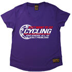 Ladies Cycling Just Want To Go Cycling átee T SHIRT DRY FIT V NECK T-SHIRT