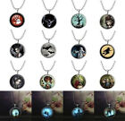 """Glow In The Dark Funny Character Luminous Pendant 24"""" Silver Chain Free Gift Bag"""