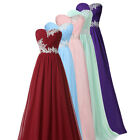 Girl Long Dress Wedding Evening Gown Ball Party Bridesmaid F