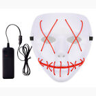 Halloween Scary Mask Cosplay Led Costume Mask EL Wire Light Up The Purge Movie <br/> ***Sold 500+++AAA+++popular+