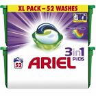 Ariel 3-in-1 Pods Colour & Style Laundry Washing Liquid Gel Capsules - 52 Washes