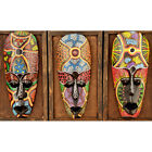 Handmade African Mask Hand Painting mask Wall Hanging Art Decor for Bar Pub