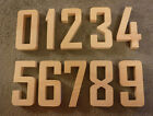 """Complete Set of Numbers 0-9,  Agency FB 5 to 7"""" inch number sign, wood numbers"""