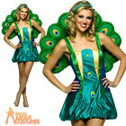 Adult Peacock Costume Light Weight Animal Bird Ladies Fancy Dress Outfit New