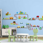 Cartoon Cars Highway Track Wall Stickers Children Bedroom Decor Wall Art Decals