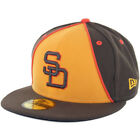 New Era SD San Diego Padres 1984 Retro 2 Fitted Hat (Brown/Gold) 59Fifty Cap