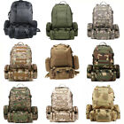 55L Open-air Military Tactical Camping Hiking Trekking Backpack Best Travel Bag