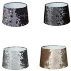 """New Luxe Crushed Velvet Effect Dual Purpose Lampshade Pendant Shade 11"""""""