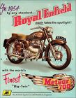 1954 Royal Enfield Meteor 700 Motorcycle Poster