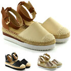 New Womens Mid Low Wedge Platforms Ladies Espadrilles Summer Sandals Shoes Size