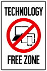 103707 Technology Free Zone Computers Laptop Tablet Decor WALL PRINT POSTER UK