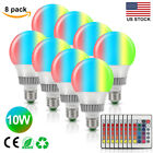 RGB LED Light Bulb Dimmable 10W E27 16Color Changing LED Lamp+IR Remote Control