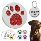 Glitter Personalized Dog Tags Custom Name ID Collar Tags Fre