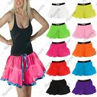 New Womens 2 Layer Net Over Ballet Dance Wear Fancy Dress Mini Tutu Skirts