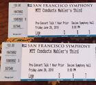 Two Tickets, Davies Symphony Hall, SF Symphony, Tilson-Thomas conducting Mahler&#039; <br/> Choice seats from our subscription