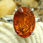 Padparadscha Sapphire Simulated 925 Silver Rings Jewelry Size 6-10 DGR1089_E