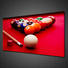 RED BILLIARD SNOOKER POOL TABLE BALLS CANVAS PRINT WALL ART PICTURE PHOTO £19.99 GBP on eBay