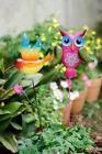 Metal Cut Bird Owl Animal Plant Stake Garden Outdoor Lawn Yard Patio Home Decor