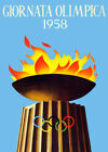 Decorative POSTER.Home room Interior art design.1958 Olympic games.Italian.7123