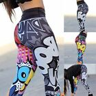 Women's 3D Print Yoga Running Gym Leggings Fitted Fitness Sports Pants Trousers