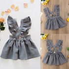 Внешний вид - Kids Baby Girls Princess Dress Ruffel Cross Strap Party Summer Dresses Skirts