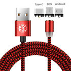 USA Magnetic Lightning Micro USB Charging Cable For iPhone 7 Android Samsung Lot